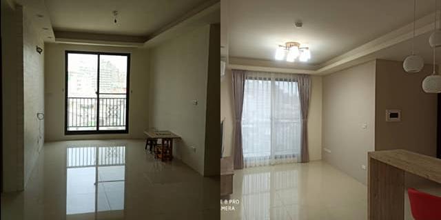 台中室內設計-小坪數房間、客廳裝潢